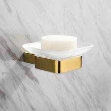 Brushed Gold Soap Dish Storage Wall Mount Trendy Bathroom Soapbox Soap Dish SUS