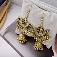 Hot Vintage Bohemian Style Gold Silver Big Earring Hook Drop Bell Women Earrings