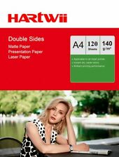 Hartwi 120 Sheets A4 140Gsm Matt Double Sided Printing Photo Paper For Laser Jet