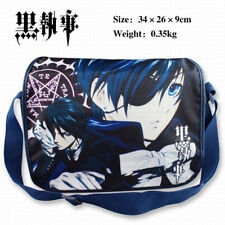 "Kuroshitsuji Black Butler Sebastian Michaelis & Ciel Messenger Bag Schoolbag 14"""