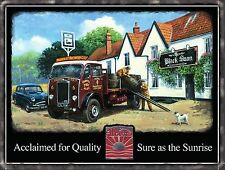 Vintage Albion Truck Classic Lorry Wagon Pub Beer Old Car Large Metal/Tin Sign