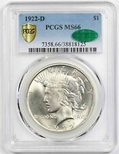 1922-D $1 PCGS/CAC MS 66 Peace Dollar