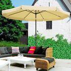 8ft/9ft/10ft Outdoor Patio Umbrella Garden Parasol Market Cafe Sunshade Aluminum