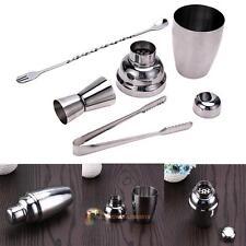 Set 4 Stainless Steel Cocktail Shaker Jigger Mixer Bar Drink Bartender Kit 250ml