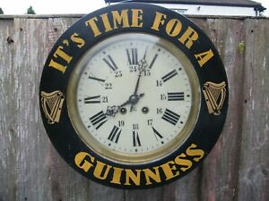Wonderful old original Guinness clock Japy Freres movement, stand, dial working