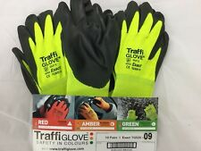 TRAFFI GLOVE CUT LEVEL 5 EXACT TG520 size 9  high protection green/black 10 pair