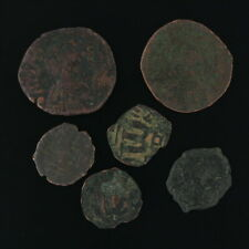 Ancient Coins Roman Artifacts Figural Mixed Lot of 6 B6530