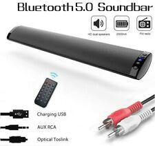 Wireless Bluetooth 5.0 TV Speaker Sound Bar OPT/RCA/AUX/USB/TF w/ Remote Control
