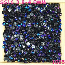 6000pcs SS16 Rose violet AB Non Hotfix Crystal Acryl Rhinestone Beads Flatback