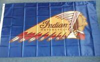 Indian Motorcycle Flag 90 x 150cm Banner Garage Man Cave Bikes Advertising Sign