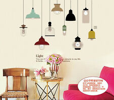 Removable Pendant Lamp Wall Sticker Mural PVC Home Room Art Decor Decal 2