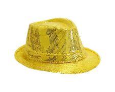 borsalino en tissu doré avec paillettes doré taille 52 Chapeaux mode fetes