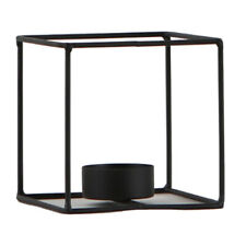 3D Geometric Candle Holder Iron Frame Tealight Candlestick Size 2-Square M