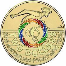 Australian Two Dollar $2 coin - 2016 - Rio Olympic Games - PARALYPIC multicolour