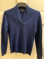 "Brooks Brothers Women's 100% Merino Wool Sweater NWOT ""346"" Blue"