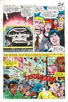 1970's DC Comics JLA Justice League of America foe color guide art:Gorilla Grodd