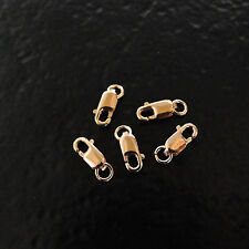 Five - Rose Gold Filled 8x3mm Lobster Clasp Open Ring, Made in Italy