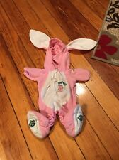 Cabbage Patch Kids Doll Clothes Pink Bunny Rabbit Costume Sleeper Pajamas
