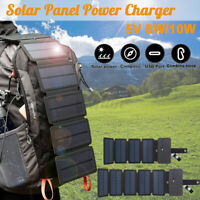 4/5 Folding Solar Power Charger Panel USB for Mobile Phone Power Bank Waterproof