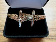 U.S Military Aviation Cadet Cufflinks With Jewelry Box 1 Set Cuff Links Boxed