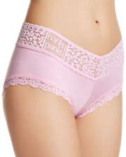 Hanky Panky Womens Cotton Candy Pink Logo To Go Boyshorts Sz L 6208