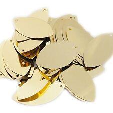 "Gold Shiny Metallic Navette Leaf 1.5"" Couture Sequin Paillettes"