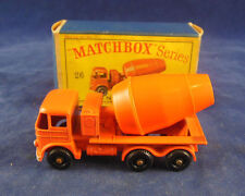Matchbox Regular Wheels No 26 b Foden Cement Mixer in Orange with Silver Trim