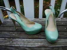 """CALVIN KLEIN TEAL MINT GREEN """" GRACEN """" SLINGBACK  high heels SIZE 6 M"""