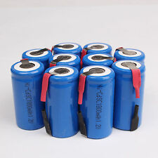 10PC Sub C SC 1.2V 1800mAh Ni-Cd NiCd Rechargeable Battery Batteries Blue Color