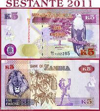 ZAMBIA   -    5 KWACHA 2012   -   P  50     -    FDS / UNC