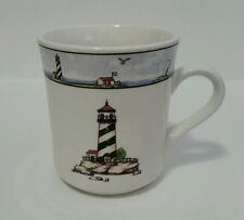 Vintage Discontinued Totally Today Coastal Lighthouse Mug 3 1/2 Inches Tall M1