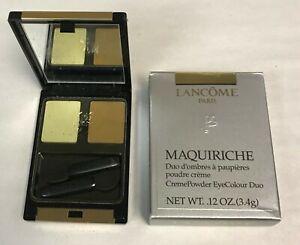 Lancome Maquiriche creme powder Eye Color Duo .12 oz / 3.4 g BLEU CELESTE / NOIX