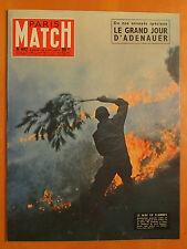 Paris Match 442 du 28/9/1957-Adenauer,le grand jour -Côte d'Azur,midi en flammes