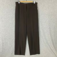 Kim Rogers Womans Pants Brown Career Slimming Size 14