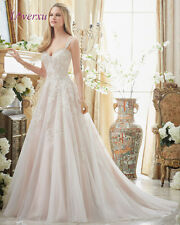2017 Sweetheart Appliques A Line wedding bridal gown custom  Size 2-18+++