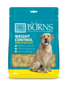 Burns Weight Control Dog Treats 200g Chicken & Oats Natural hypoallergenic