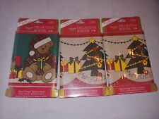 Barth & Dreyfuss MERRY BEAR/Tinsel Tree Vintage Christmas Decorative Wall Border