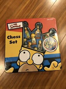 Vintage Original The Simpsons Chess in Collectors Tin #52971 Sealed New