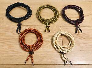 216 Round 6mm Sandalwood Buddhist Prayer Beads Mala Bracelet various color