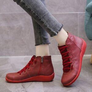 ✅ New Short Boots Women Autumn Comfortable Soft Leather Shoes Falt Breathable