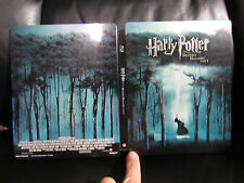 Harry Potter Deathly Hallows Part 1 3 Disc Blu-Ray DVD Steelbook Mint Condition
