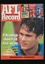 1999 AFL Football Record North Melbourne vs Essendon April 1 - 5 unmarked