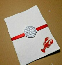 Handmade Paper Sheets - 10 sheets -Lobsters (864) Free Shipping