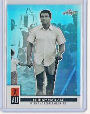 2016 LEAF MUHAMMAD ALI IMMORTAL BASE CARD #7 WITH THE PEOPLE OF ZAIRE