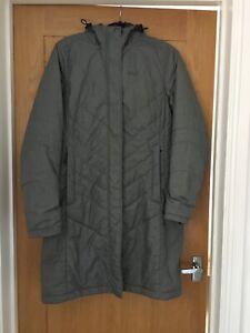 Jack Wolfskin Silver/ Grey Women's Hooded Coat. Storm Lock Active  12/14