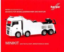 HERPA MiniKit 1:87 MAN TGX XLX Euro 6c Empl Bergefahrzeug, weiß #013574 NEU/OVP