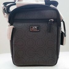 NWT COACH MVC FLIGHT BAG 70302 BLACK/CHARCOAL