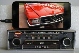 BECKER MEXICO CASSETTE VOLSTEREO 485 Mercedes W108 W111 W113 R107 + Optional BT