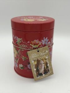 NWT Pioneer Woman Garden Meadow Metal Tin Floral Canister Kitchen Farmhouse