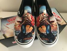 Iron Maiden Trooper Vans Classic Slip On Shoes Brand New NOS Size 9.5 RARE 2007